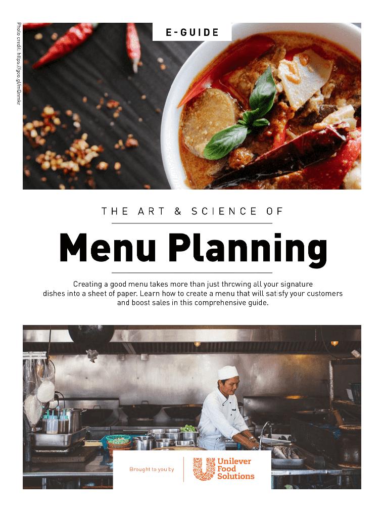 The Art of Menu Planning