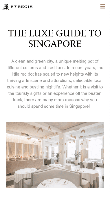 The Luxe Guide to Singapore